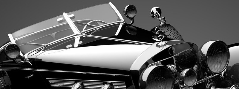 Antique Black Car With Black Background Hd Wallpapers 1440 X 900
